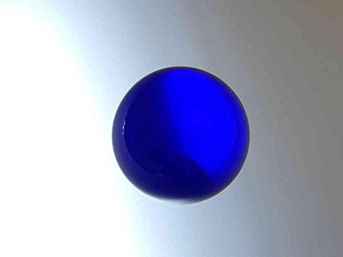 SCHÄFER GLAS SHOP Glaskugel ohne Loch ca. 25 mm, poliert, rundgeschliffen, safir blau