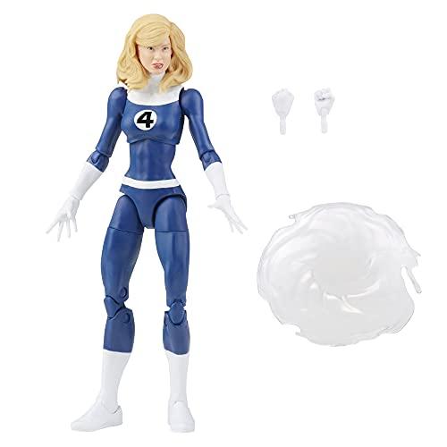 Boneca Marvel Legends Series Retrô Fantastic Four, Figura de 15 cm - Mulher Invisível - F0350 - Hasbro