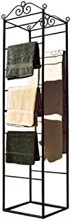 PTC Home & Garden Square Base Blanket Rack, Black
