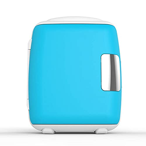 Mini Fridge Single Door Mini Refrigerator, 9L/12 Cans Compact Household Car Refrigerator, Adjustable Temperature Beauty Refrigerator (Color : Blue, Size : 110V)