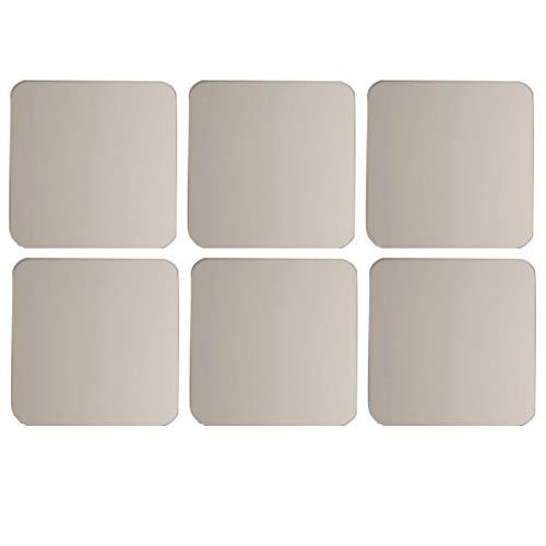 LPxdywlk 6Pcs / Set Quadratische Form Spiegel Wandaufkleber Poster Wallpaper Home Schlafzimmer Dekoration Silber