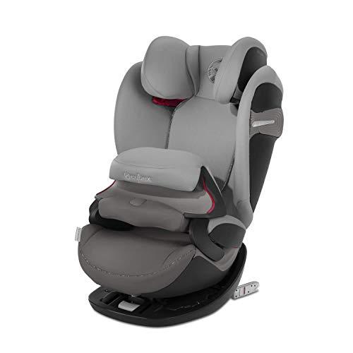 Cybex Gold 2-in-1 Kinder-Autositz Pallas S-Fix, Für Autos mit und ohne ISOFIX, Gruppe 1/2/3 (9-36 kg), Ab ca. 9 Monate bis ca. 12 Jahre, Manhattan Grey