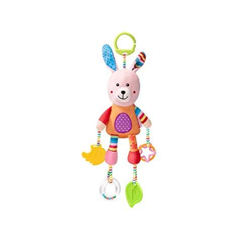 Juguetes para bebés suave que cuelga la arruga chillona juguete educativo sensorial infante recién nacido Cochecito asiento coche cuna viaje Actividad animales peluche con Mordedor Conejo Niños Niñas