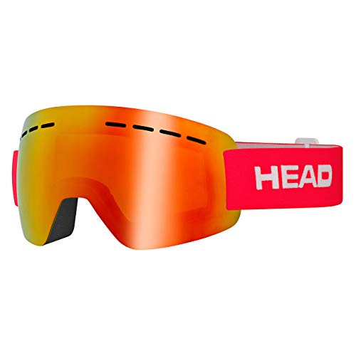 HEAD Unisex– Erwachsene SOLAR Skibrille, FMR rot, L