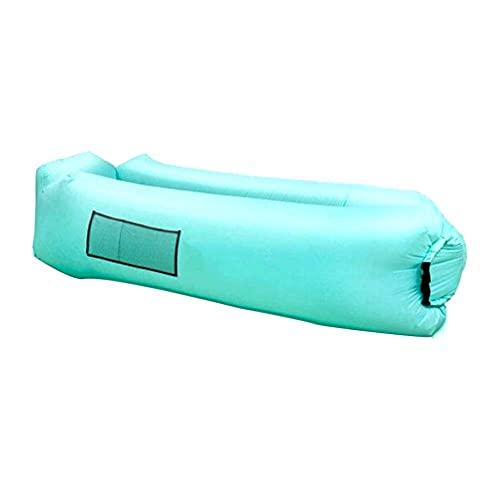 portátil Sofá Silla Sofá perezoso Sofá inflable, Sofá cama inflable perezoso para exteriores Saco de dormir Sofá de aire Tumbona portátil para acampar en la playa, viajes de picnic, no requiere bomba