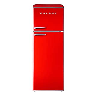 Galanz GLR12TRDEFR Refrigerator, Dual Door Fridge, Adjustable Electrical Thermostat Control with Top Mount Freezer Compartment, Retro Red, 12.0 Cu Ft (B07R121SW9) | Amazon price tracker / tracking, Amazon price history charts, Amazon price watches, Amazon price drop alerts