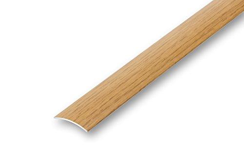 (4,94€/m) 30 mm Aluminium Übergangsprofil Eiche im Holzdekor furniert (900 mm (selbstklebend), Eiche)