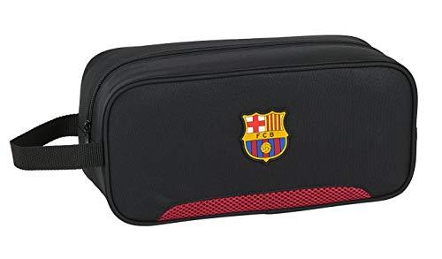 safta 812027194 Bolso zapatillas zapatillero 34 cm FC Barcelona, Negro (FCB Multicolor)