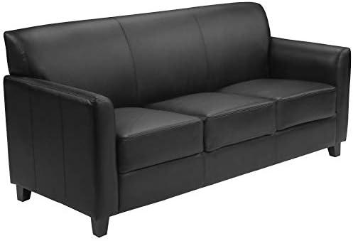 Best Flash Furniture HERCULES Diplomat Series Black Leather Sofa