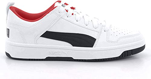 Puma Unisex-Erwachsene Rebound Layup Lo SL Sneaker, White Black-High Risk Red, 44 EU