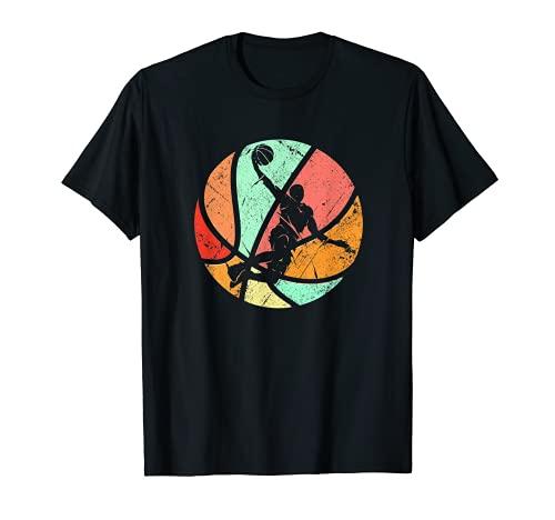Retro Basketball Spieler Dunk Silhouette T-Shirt