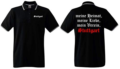 world-of-shirt / Stuttgart Herren Polo-Retro Meine Heimat