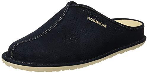 Nordikas Tex Cab, Zapatillas de Estar por casa con talón Abierto Hombre, Azul (Marino 010), 44 EU