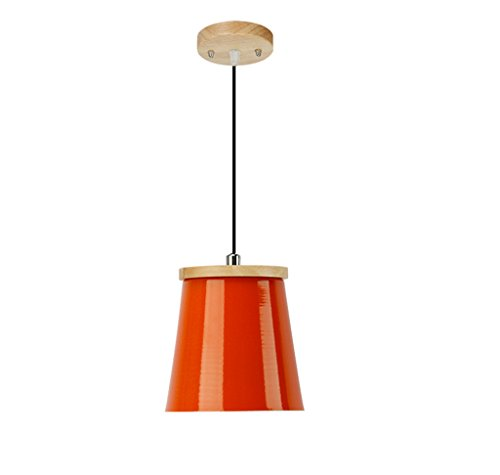Lamp LU Restaurant Droplight Shade Single Head Personnalité Créative Couleur Lumineuse Petite Suspension Bureau (Color : Orange)
