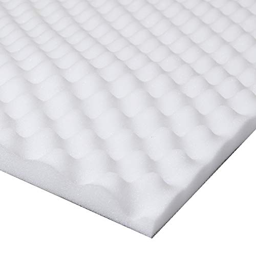 Lancashire Textiles Back Support Pain Relief Egg Shell Box Foam Mattress Pad Topper - Double