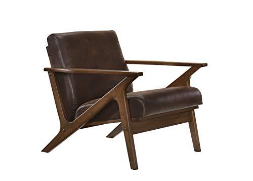 Omax Decor Accent Chair, Walnut/Brown
