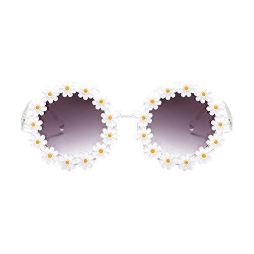KESYOO Blumen Sonnenbrille Neuheit Partybrille Gänseblümchen Rahmen Frauen Damen Sonnenbrille Punk Hippie Party Maskerade Musikfestival Kostüm Zubehör Foto Requisiten