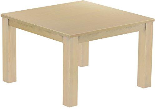 Esstisch Rio Classico 120x120 cm Birke Massivholz Pinie Holz Esszimmertisch Echtholz Größe und Farbe wählbar ausziehbar vorgerichtet für Ansteckplatten Brasilmöbel