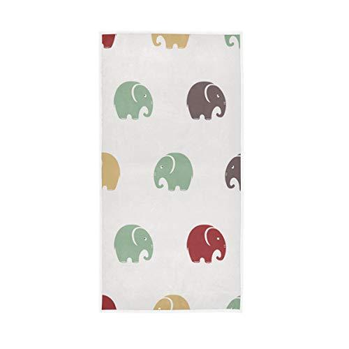 Mr.Lucien Lindas toallas de baño de mano de elefante colorido bebé secado rápido toalla de mano altamente absorbente toalla facial para baño 30 x 15 pulgadas 2020012