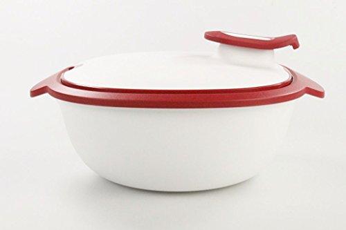 Tupperware, Thermo-Duo, contenitore termico, di colore rosso e bianco, da 2,25 l, codice articolo 9945