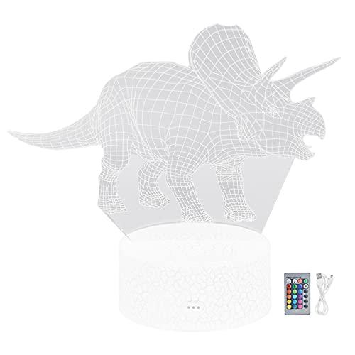BOLORAMO Lámpara De Dinosaurio, Función De Atenuación De Luz De Dinosaurio De Iluminación Suave Viva para La Sala De Estar para El Hogar