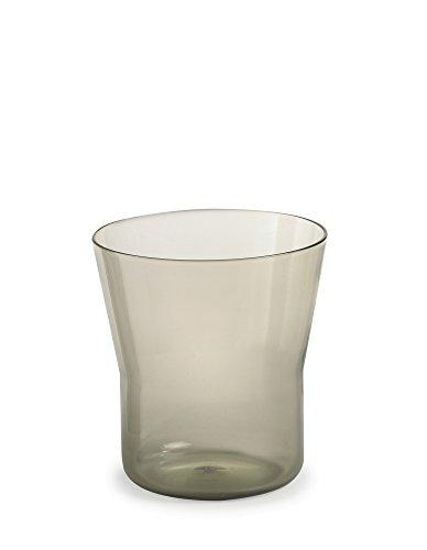 Authentics Piu Vase 15, Verre Soufflé à la Bouche, Noir, 15 cm, Ø 14 cm, 2818526