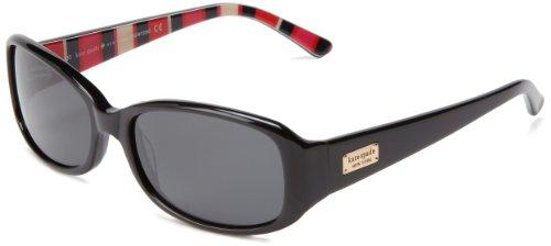 Kate Spade New York Women's Paxton Rectangular Sunglasses, Black Stripe, 53 mm