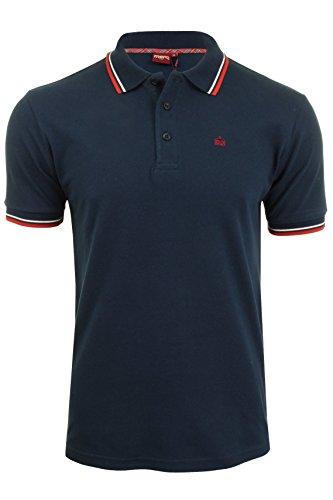 Merc of London Card Polo Shirt, Bleu (Navy/Red), M para...
