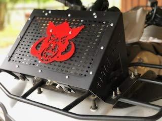 Kawasaki Brute Force 650i/750i (2012-2020) Radiator Relocation Kit with Red Boar Logo