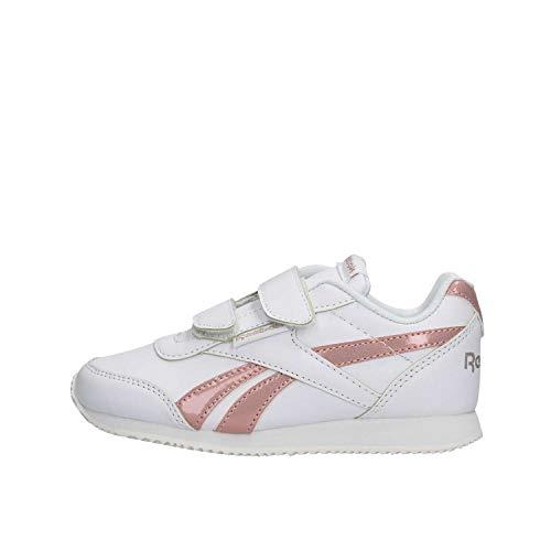 Reebok Royal CLJOG 2 2V, Zapatillas de Trail Running para Niñas, Multicolor (New Metallic/White/Pink 000), 34 EU