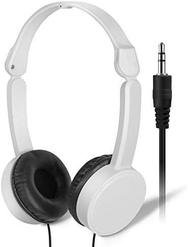 Bulk Headphones Earbuds for Students Kids' – SP Soundpretty 10 Pack Headphones for Kids for School White Adjustable Headphone SP-T10 Back to School Headsets for Classroom Children Travel Plane