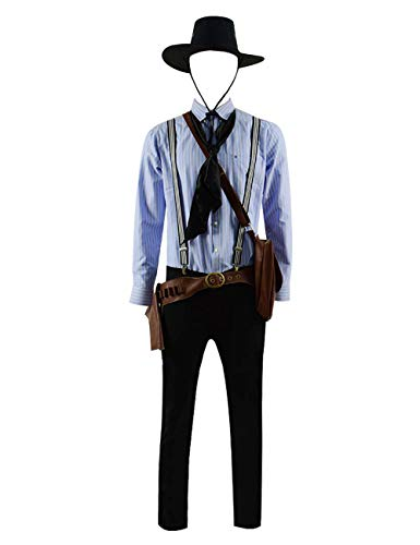 Red Dead Arthur Morgan Erlösung Redemption 2 Kostüm Cosplay Outfits (X-Small, Vollständiger Satz)