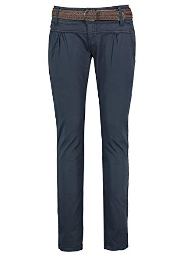 Urban Surface Damen Chino Stoff-Hose mit Flecht-Gürtel Blue XL