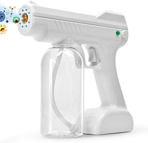 Disinfectant Fogger, Handheld Rechargeable Disinfectant Mist Gun 27oz Large Capacity Nano Adjustable Fogger for Home,Office, School or Garden