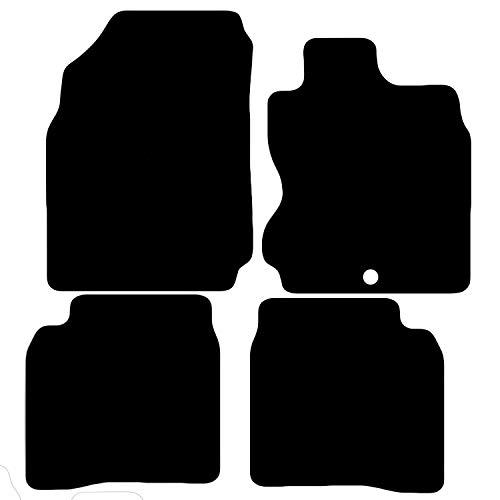 Carsio Carp-Cut-1203-(41 x 1) maßgeschneiderte Schwarze Teppich-Fußmatten für Nissan Note 2006 bis 2012-4-teiliges Set