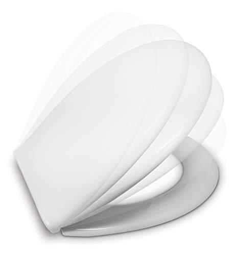 ESTOLI Abattant WC Compatible Frein de Chute | Forme O Standard | Lunette Toilette Soft Close |...