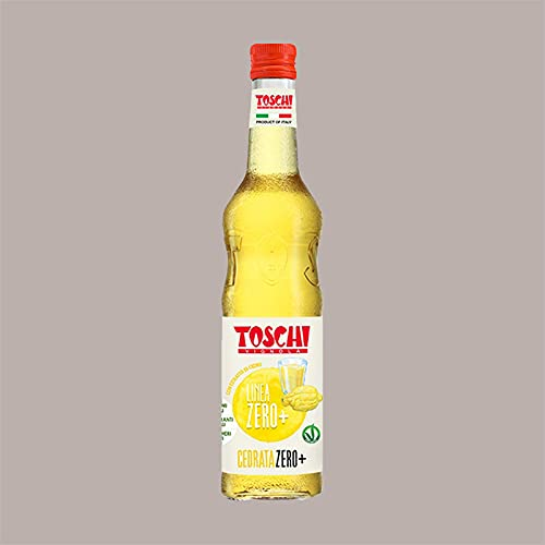 Lucgel Srl 740 gr Sciroppo CEDRATA ZERO+ Calorie Senza Zucchero TOSCHI per Gelato Granita Cocktail