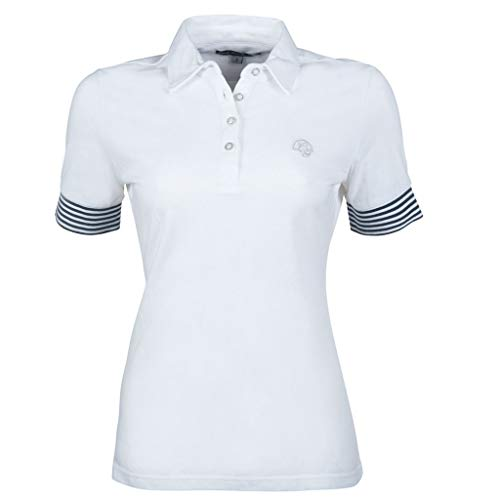 HKM 11374 Lauria Garrelli Poloshirt Elemento, Reitshirt Damenshirt, Weiß, M