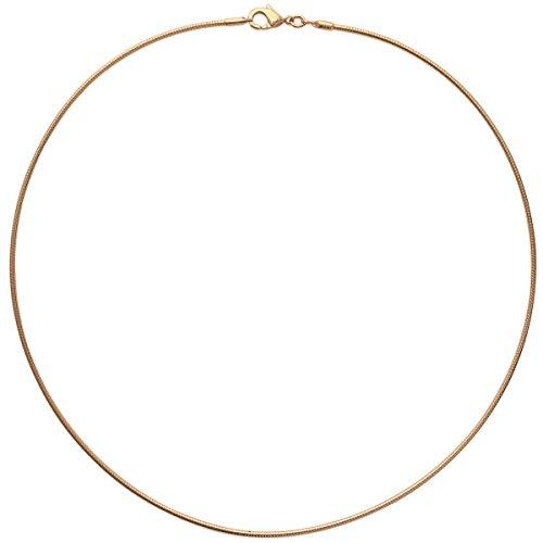 Collana girocollo placcata oro, Semi rigida, 45 cm-Gioiello da donna