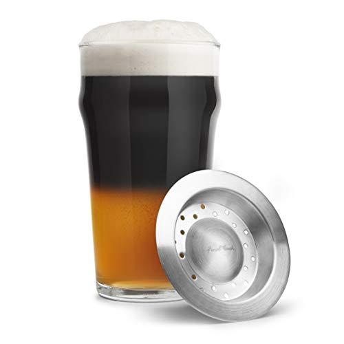 Final Touch Black & Tan Beer Layering Tool en acier inoxydable - Convient sur le dessus de votre verre à la couche bières de différentes densités comme Pale Ale, lagers et stouts