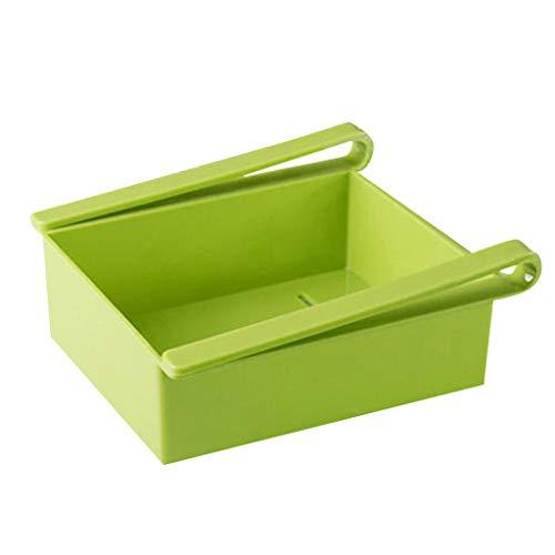 Serria® Kühlschrank Schubladen Organizer, Einstellbare Lagerregal Kühlschrank Partition Layer Organizer, Ausziehbare Kühlschrank Regal Halter, Kühlschrank Lebensmittel Aufbewahrungsbox