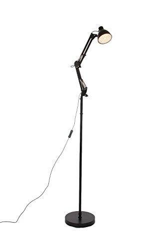 Steinhauer Modern design vloerlamp/leeslamp (zwart)