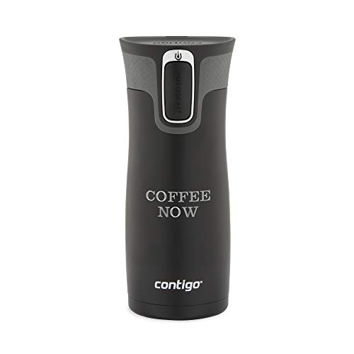 Personalized Contigo Matte Black West Loop Autoseal 16 OZ Stainless Steel Travel Mug, Mug with Engraving Included