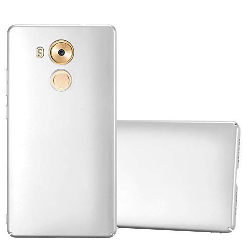 Cadorabo Hülle für Huawei Mate 8 - Hülle in Metall Silber – Hardcase Handyhülle im Matt Metal Design - Schutzhülle Bumper Back Case Cover