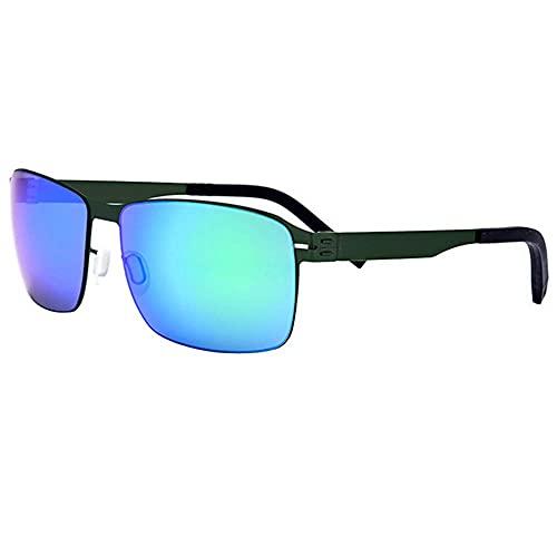 WSYGHP Gafas de sol para mujer, UV400, sin tornillos, sin puntos de soldadura, ultra ligeras, gafas de sol de pesca de metal, para hombres y mujeres, gafas de sol de moda (color verde)