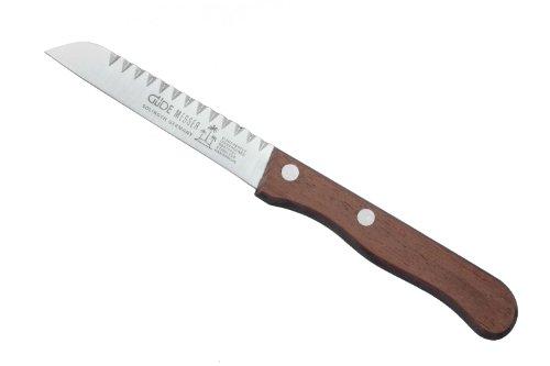 Güde Sigma - Cuchillo de Cocina (Mango de Madera Noble, Longitud de la Hoja: 9 cm, sin Rosas)