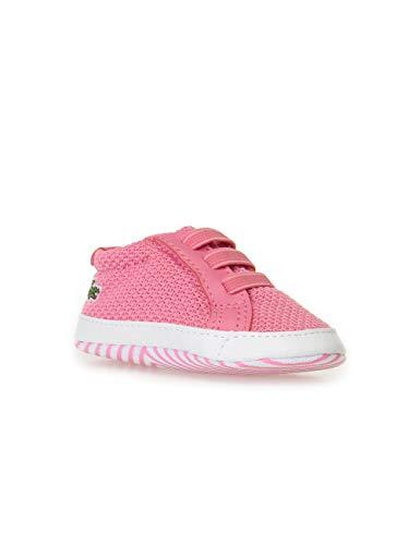 Lacoste Unisex Baby L.12.12 Crib 318 1 Cab Krabbelschuhe, Pink (Pnk/Wht F50), 17/18 EU