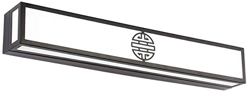 Shuai Beautiful lamp/* trekker licht LED badkamer kast spiegel verlichting Chinese Retro slaapkamer kaptafel wandlamp zwart (lichtkleur: warm 80 cm (32 W))