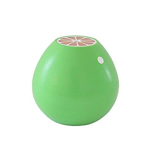 VORCOOL Mini Humidificador Aromaterapia Ultrasónico USB Humidificador de Aire LED Forma de Pomelo para Casa Oficina Yoga Spa Verde