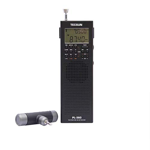 Tecsun PL-365 Mini Tragbarer SSB DSP ETM ATS FM Stereo MW SW World Stereo Radio (Schwarz)